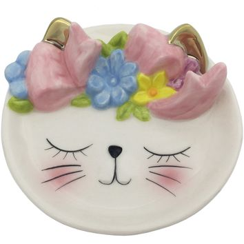 Cat Ceramic Trinket Tray