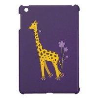 Cute Roller Skating Giraffe iPad Mini Case from Zazzle.com
