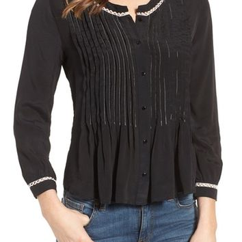 Velvet by Graham & Spencer Pintuck Pleat Blouse | Nordstrom