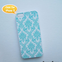 iPhone 5 Case Mint Damask - Ships from USA