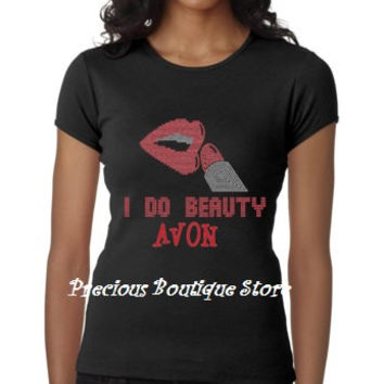 I do Beauty Avon Rhinestone/Vinyl Combination Shirt