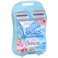 Gillette Venus Spra Breeze Disposable Razors, 2 Ea