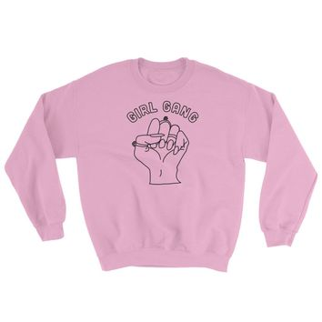 Girl Gang Crewneck Sweatshirt Pink