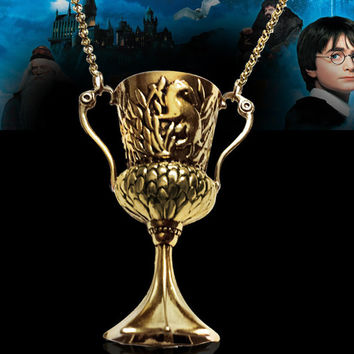 HARRY POTTER and The Goblet of Fire Hufflepuff's Cup Pendant Horcrux Necklace
