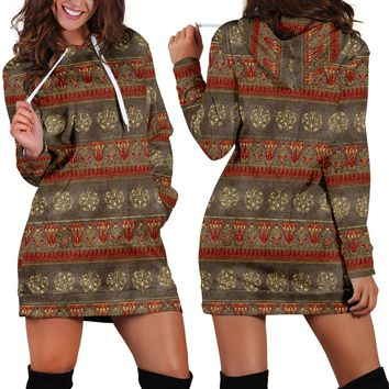 Egyptian Design Hoodie Dress