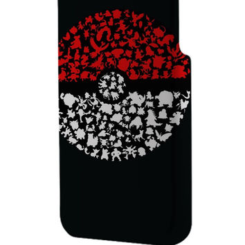 Best 3D Full Wrap Phone Case - Hard (PC) Cover with Who s that pokemon ball art Design