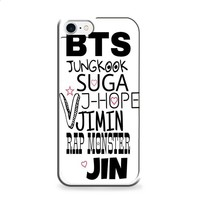 BTS BANGTAN BOYS name black iPhone 6 | iPhone 6S case