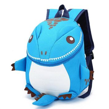 3D Dinosaur School Bag Cute Nylon Animals Backpack for Kids Kawaii Zipper Children Small Bags Casual Boys Backpacks 5 Colors Y3