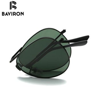 Foldable Polarized Classic Aviator Sunglasses From Baviron