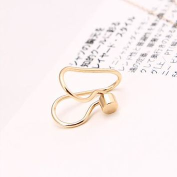 Fashion Unicorn Brincoss Girls Earing Bijoux Aros Round Clip Ear Cuff Earrings For Women Star Jewelry Earings One Direction
