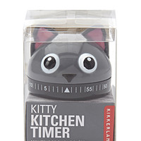 Kikkerland Kitty Kitchen Timer
