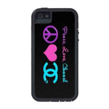 Peace Love Chanel for iphone 5s case
