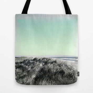Summer tote bag, beach tote, beach bag, KIDS bag, SMALL, market tote, MEDIUM, seafoam, sand dunes, ocean, Oregon, photography, canvas bag