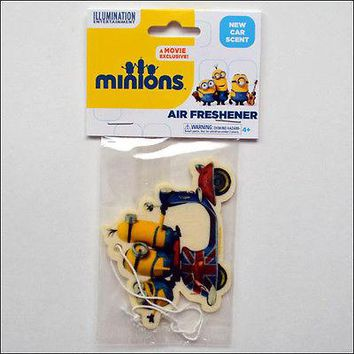 Despicable Me Minions British UK Scooter Auto New Car Smell Scent Air Freshener