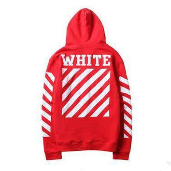 American Tide Logo OFF WHITE Hoodies Classic Design Stripe Printed Hooded Sweatshirts Solid Thin Pulllover Hoodies For Men Women 4 Color