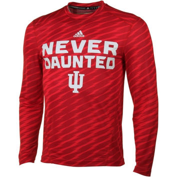 Indiana Hoosiers adidas Player Training Long Sleeve Performance T-Shirt – Crimson