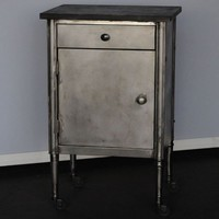 Twenty Gauge Nightstand- steel - Salvage Furniture - Store Vintage Steel Furniture
