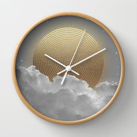 Nothing Gold Can Stay (Stay Gold) Wall Clock by Soaring Anchor Designs