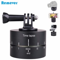 Automatically Rotate Panoramic Time-lapse Gimbal tripod for DSLR Camera Platform for Gopro Xiaoyi phones Photography Recording