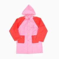 Hello Kitty Girls Raincoat: Red on Pink