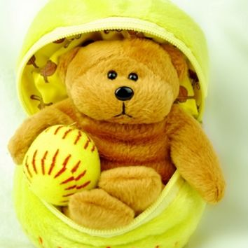 Fastpitch Softball Teddy Bear in a Ball $19.95