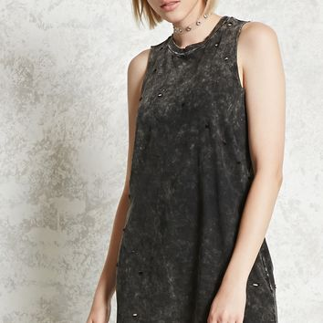 Distressed Muscle Tee Dress