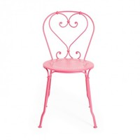 Fermob Pink Heart Side Chair