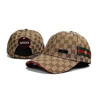 GUCCI Women Men Bee Embroidery Adjustable Travel Hat Sport Cap