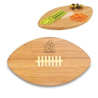 Super Bowl 51 'Touchdown! Pro' Football Cutting Board & Serving Tray-Bamboo Laser Engraving