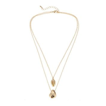 Double Layer Shell Necklace