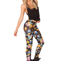 Black Cartoon Print Legging