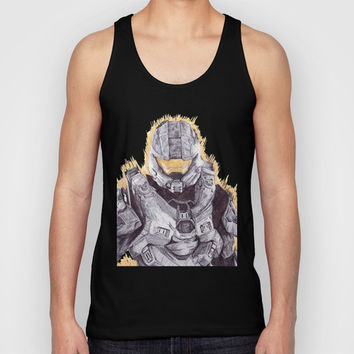 Halo Master Chief Unisex Tank Top by DeMoose
