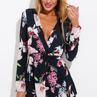 Somewhere Only We Know Playsuit Black