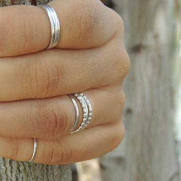 First Knuckle Ring -Silver - Knuckle Finger Tip Ring - First Knuckle Ring - Memory Ring - Extra Thin - Plain - Slim - Dainty