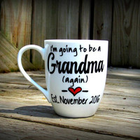 Grandma to be, Grandma to be gift, Grandpa to be, Grandpa to be gift, Baby announcement gift, Baby reveal mug, Baby announcement mug