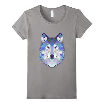 Geometric Graphic Wolf Face T-Shirt    Relax Fit Tshirt
