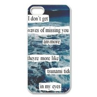 Ed Sheeran Quotes iPhone 5 Case Hard Plastic iPhone 5 Case