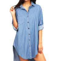 Urban+Denim+Shirt+Dress
