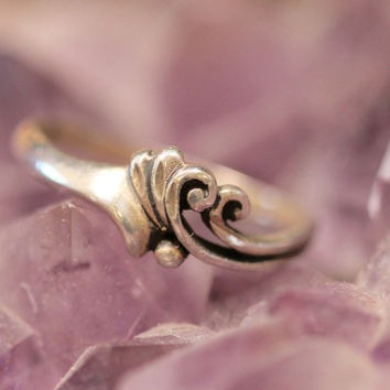 Silver Boho Stacking Ring Sterling Hippie Gypsy Vintage