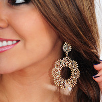 Playing The Game Earrings: Gold