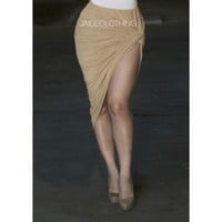 Suede Caramel Knot Mini Skirt - Jaide Clothing
