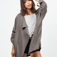 Oversized Drapey Open Jacket - Large