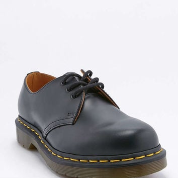 Dr. Martens Black Leather 3-Eyelet Shoes - Urban Outfitters