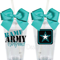 BAMF ARMY Girlfriend 16oz Personalized Acrylic by LylaBugDesigns