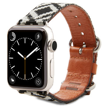 TOMS BAND FOR APPLE WATCH WANDERLUST 38MM BLACK DIAMOND