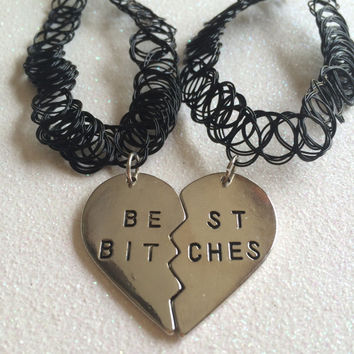 Best Bitches / Soul Sisters BFF Tattoo Choker