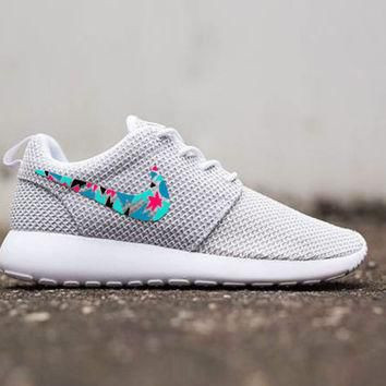 Womens Custom Nike Roshe Run sneakers, cute design, womens custom sneakers, Customized