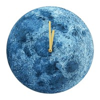 "Era Home | Blue Lunar Surface 12"" Wall Clock 