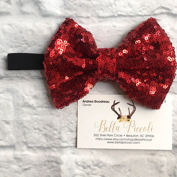 Baby Headbands, Baby Girl Headbands, Red Bow Headband, Black  Band Headband, Headbands, Baby Girl, Sequin Headbands, Sequin Bows