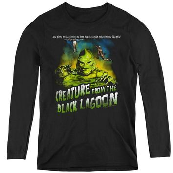 Creature from the Black Lagoon Womens Long Sleeve Tagline Black
